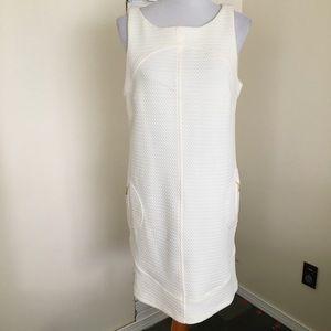 NWT Sharagano Cream Texture Dress 12 W/ Pockets